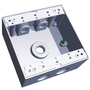 S402CN BOX W/P 2G GRY 4HOLE 3/4