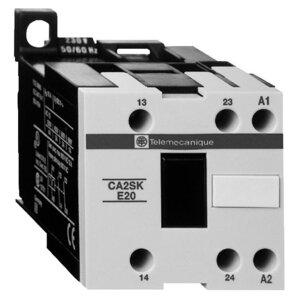 Square D CA2SKE20G7 Relay, Alternating, Control, 2P, 2NO, 0NC, 120VAC Coil, Screw Clamps
