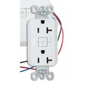 Wattstopper WRC-20-2-W Duplex Receptacle, Fully Controlled, LED Indicator