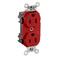 M8200-PLR RED RECPT DPLX HG P/L 15A125V