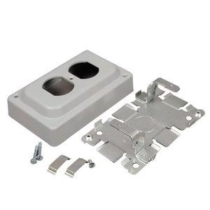 Wiremold 1546B NM DUPLEX RECPT BOX 1500 GRAY