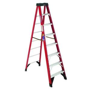 Werner Ladder 6312 Fiberglass Stepladder, 12', 375 lbs