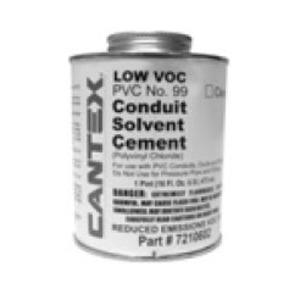 Cantex 7210601 PVC Cement, No. 99, Clear, 1/2 Pint