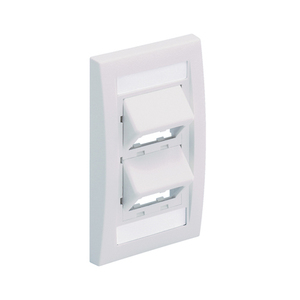 CFPSE4WHY 4P SLOPED FACEPLATE WHITE