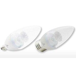 Green Creative 4.5B11DIM/827 Dimmable LED Lamp, 4.5W, 120V, 2700K