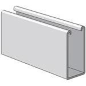 "Power-Strut PS100-10PG Channel - No Holes, Steel, Pre-Galvanized, 1-5/8"" x 3-1/4"" x 10'"
