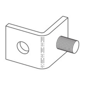 Eaton B-Line B400-2ZN ONE STUD RING CONNECTION ZINC PLATED