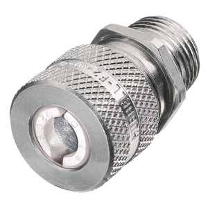 "Hubbell-Wiring Kellems SHC1022 Straight Cord Connector, 1/2"", Straight, Male, Aluminum"