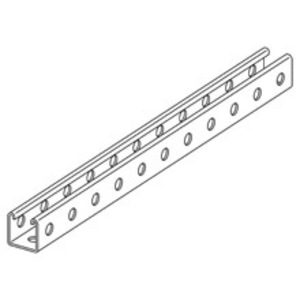 Eaton B-Line B22TH-120GRN CHANNEL, 1 5/8-IN. X 1 5/8-IN., 9/16-IN. SLOTTED HOLES, ALL SIDES, 12 GA., 120-I
