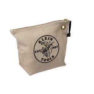 5539NAT CANVAS ZIPPER BAG NATURAL