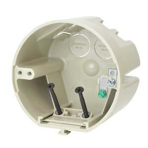 "Allied Moulded SB-CBG 4"" dia. round fixture support box for use with nonmetallic sheathed cable"