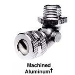 "Hubbell-Kellems NHC1024 Cord Connector, 90°, Hub: 1/2"", Cord Range: 0.50 - 0.63"", Aluminum"