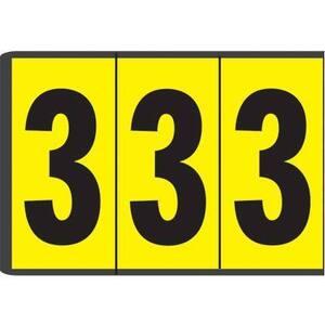 """Panduit PCL300-8 Number, Vinyl Cloth, '8', 3""""H, 6/card, 2"""