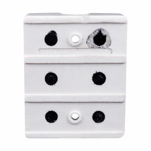 Eaton/Bussmann Series 2607 Porcelain Fuse Block, Class H(K) & R, 3-Pole, 1/10-30A, 250V