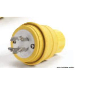 Woodhead 40-2676 Locking Plug, 20A, 3PH 480V, 3P4W, L16-20, Yellow