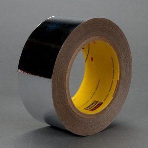 "3M 8437-1""X72YDS Metalized Film Tape, Silver, 1"" x 72 Yd, 1.0 mil"