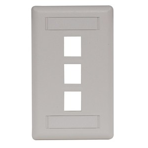 Hubbell-Premise IFP13OW PLATE WALL FLUSH 1-G 3PORT OW