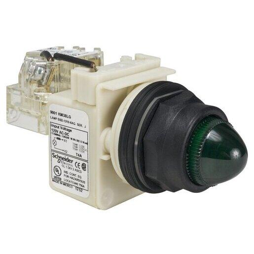 9001SKT38LGG9 PILOT LIGHT 120V 30MM SK +