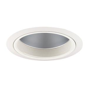 "Juno Lighting 230-CWWH Baffle Trim, 6"", A19, White Baffle/White Trim"