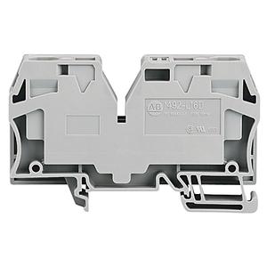 Allen-Bradley 1492-L16D Terminal Block, 65A, 600V AC/DC, Center Jumper Feed, Gray, 16mm