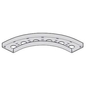 """Eaton B-Line ACC-04-90HB12 Channel Cable Tray 90° Horizontal Bend, 12"""" Radius, 4"""" Wide, Aluminum"""
