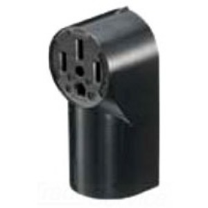 Hubbell-Wiring Kellems RR450 Surface Mount Receptacle, 50A, 125/250V, Black