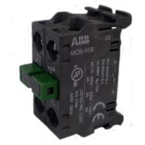 ABB MCB-20B 22mm Contact Block, 2 N.O., Modular