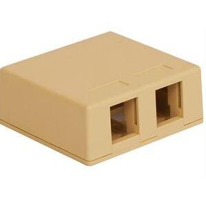 ICC IC107SB2IV Telephone/Data, Surface Mount, 2 Port, Jack, IC107, Ivory
