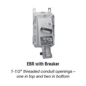Appleton EBR15034FD150 Explosionproof Receptacle, 150A, 4P3W, w/ 600V FD Breaker