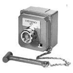 Eaton 10250TGS 30.5 mm, Control Station, Break Glass Station, Gray Enclosure, 1NC