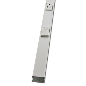 Wiremold WH20GB506TRGFI6 Steel, Prewired Plugmold, Tamper-Resistant, 5' Long, White, (6) Outlets, GFI