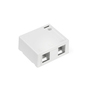 410892WP 2 PORT WHITE SURFACE BOX
