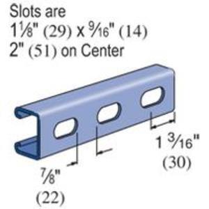 Unistrut P4100T-20PG UNISTR P4100T-20PG STRUT,13/16inX1-