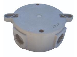 Hubbell-Killark NV2MG NV2 Series Ceiling Mount Splice Box - M20 - Gray