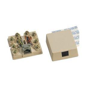 Suttle SE-625A2-8-NK50 Telephone, Surface Mount, 1 Port, Jack, 8P8C, USOC, Ivory