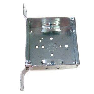 "Steel City 52151-CVN 4"" Square Box, Welded, Metallic, 1-1/2"" Deep , CV Bracket"