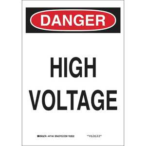 25534 ELECTRICAL HAZARD SIGN