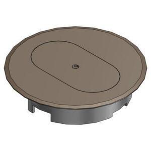 """Carlon E97DSB Round Duplex Receptacle Cover, Diameter: 5"""", Non-Metallic"""