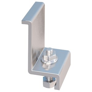 IronRidge 29-7000-130 End Clamps with Hex Bolts and Flange Nuts, Mill Finish Anodized Aluminum. For use with 1.30 inch (33mm) thick modules. 4 pack.