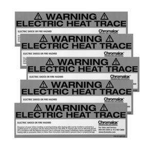 Chromalox 382424 Caution Label Kit, 5 Weather Resistant Labels
