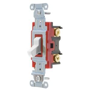 Hubbell-Kellems 1224W Four-Way Switch, Heavy Duty, 20A, White