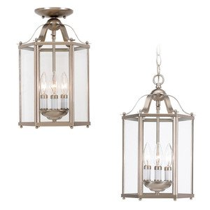 Sea Gull 5231-962 Pendant, 3 Light, 40W, Brushed Nickel