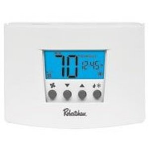 Robertshaw RS5110 Thermostat, Wall Mount, Double Pole, Line Voltage, 24 VAC, 3 Amp