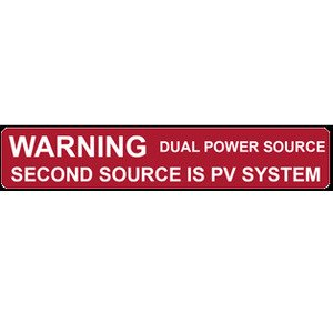 HellermannTyton 596-00231 Dual Power Source Label