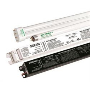 SYLVANIA QHE4X54T5HOUNVPSNHTSCLDOE Electronic Ballast, Fluorescent, High Output, 4-Lamp, 54W, 120-277V