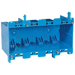 """Carlon B468R Switch/Outlet Box, 4-Gang, Depth: 3.56"""", Old Work, Non-Metallic"""