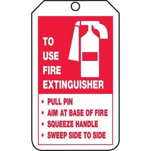 Panduit PVT-1128-Q 15-MIL TAG, FIRE EXTINGUISHER INSTRUCTIO