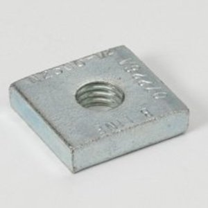 "Eaton B-Line N2500-3/8ZN Insert Square Nut, 3/8""-16 Thread, Zinc Plated"