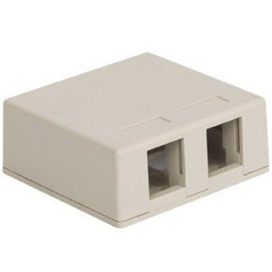 ICC IC107SB2WH Multimedia Box Housing, Surface Mount, 2-Port, White