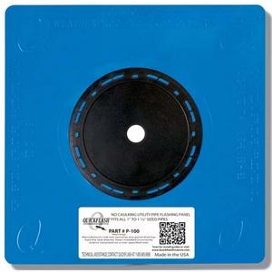 """Quickflash P-100 Plumbing/Gas/HVAC Flashing Panel, 1 to 1-1/4"""""""
